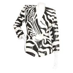 Jean-Claude Jitrois Zebra Print Leather Jacket Circa 1980's