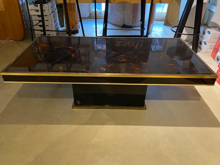 French Jean Claude Mahey Coffee Table For Sale