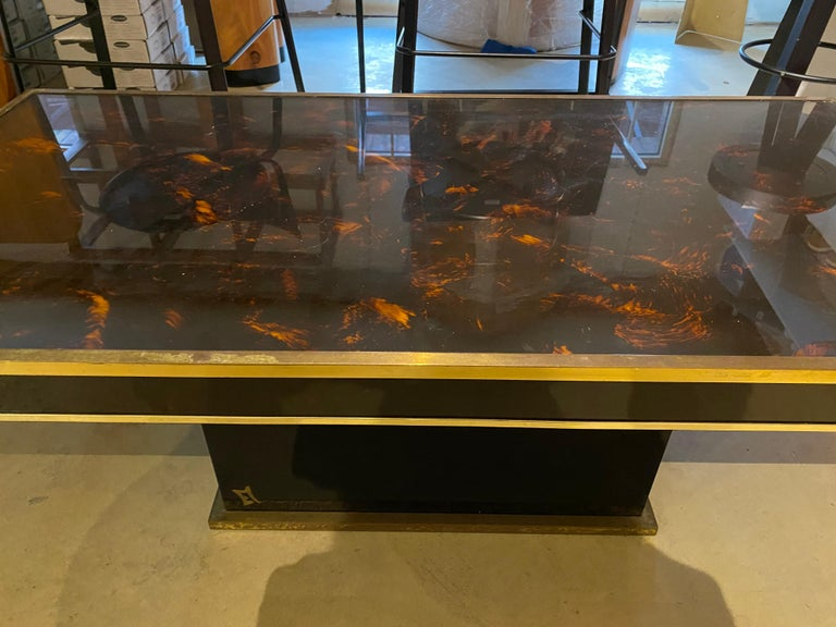 Late 20th Century Jean Claude Mahey Coffee Table For Sale