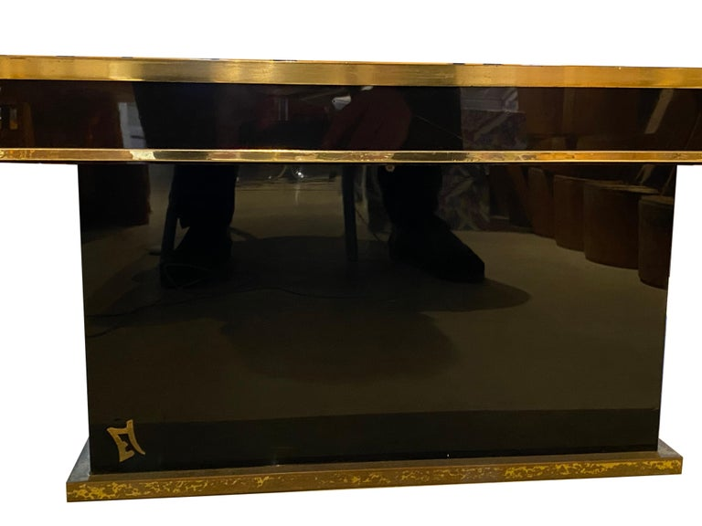 Brass Jean Claude Mahey Coffee Table For Sale
