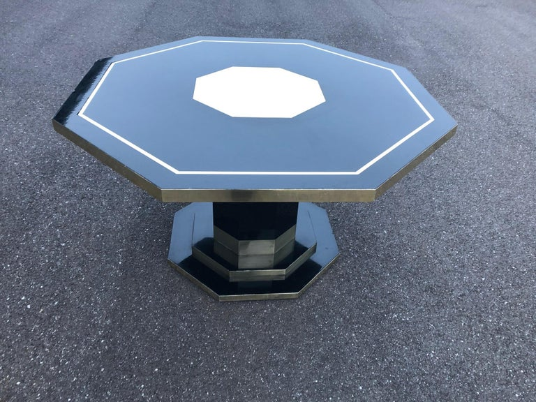 Mid-Century Modern Jean Claude Mahey Dining Table For Sale