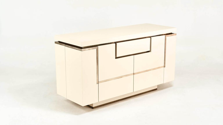 Jean-Claude Mahey, Lacquered Sideboard for Roche Bobois, circa 1970 For Sale 4