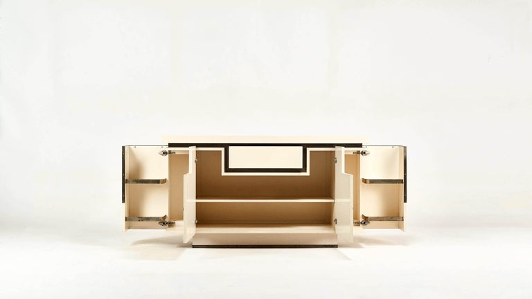 French Jean-Claude Mahey, Lacquered Sideboard for Roche Bobois, circa 1970 For Sale
