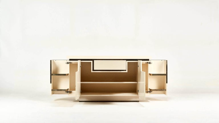 Jean-Claude Mahey, Lacquered Sideboard for Roche Bobois, circa 1970 In Good Condition For Sale In Munster, NRW