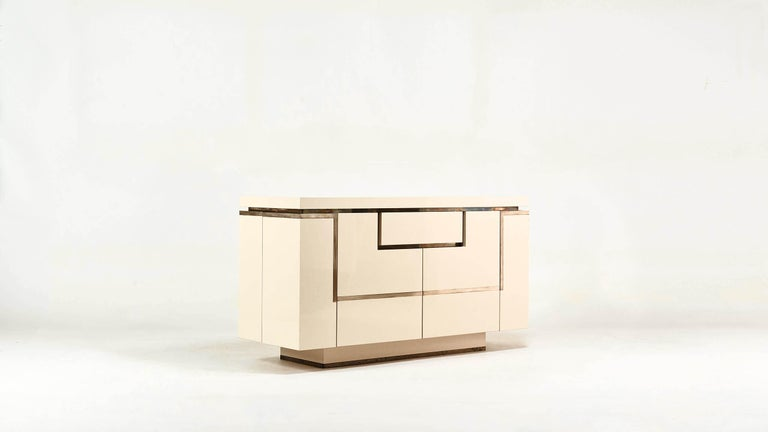 Late 20th Century Jean-Claude Mahey, Lacquered Sideboard for Roche Bobois, circa 1970 For Sale