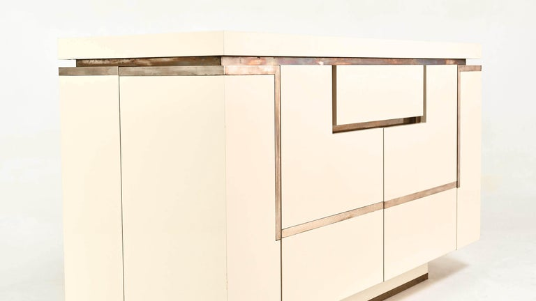 Jean-Claude Mahey, Lacquered Sideboard for Roche Bobois, circa 1970 For Sale 1