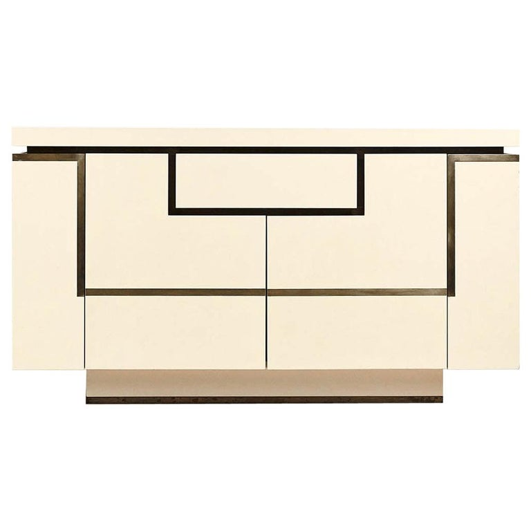 Jean-Claude Mahey, Lacquered Sideboard for Roche Bobois, circa 1970 For Sale