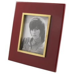 Jean Claude Mahey Oxblood Lacquer Brass Picture Frame