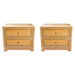 Jean-Claude Mahey, Pair of Bed Side Tables, France, circa 1970