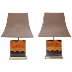 Jean Claude Mahey Pair of Table Lamps