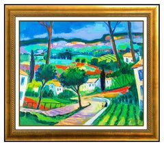 Jean Claude Picot Oil On Canvas Original French Landscape Signed Framed Artwork