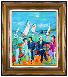 Jean Claude Picot Original Oil Painting On Canvas Seascape Portrait Signed Art