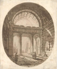 Capriccio - Original Aquatint by Abbé de Saint-Non - Late 18th Century