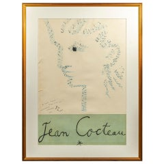 Jean Cocteau, Importante Lithography, France, 1947