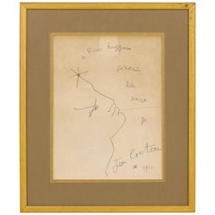 Jean Cocteau Drawing, circa 1952, France