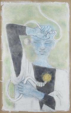 "Astrology  ."" le feu "". Museum Unic Work  certified by Comité Jean  Cocteau."