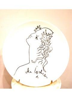 Jean Cocteau - Profile - Original Limoges Porcelain