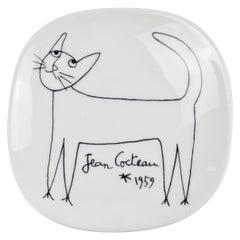 Jean Cocteau Porcelain Dish for Limoges, 1959