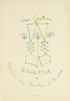 Assiettes, Nourrir Les Bouches et Les Yeux by Jean Cocteau - lithograph