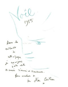 Composition - Original Lithograph after Jean Cocteau - 1982