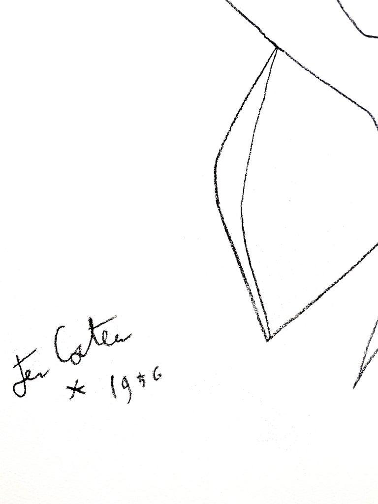Jean Cocteau - Actress - Original Lithograph 2