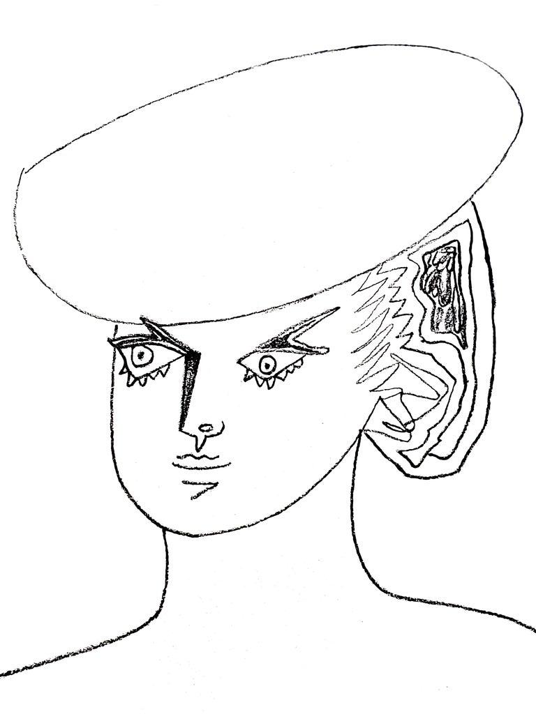Jean Cocteau - Actress - Original Lithograph 5