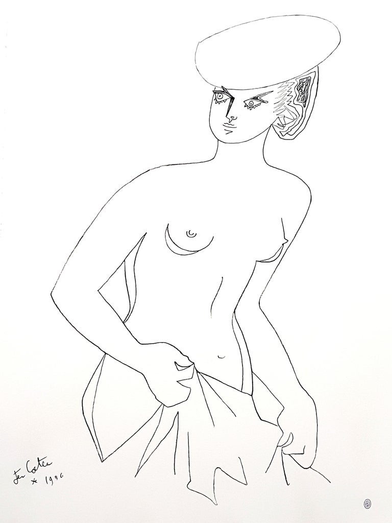 Jean Cocteau - Actress - Original Lithograph 1