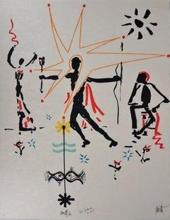 Jean COCTEAU and Raymond MORETTI : Celebration - Original Hansigned Lithograph