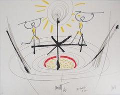 Jean COCTEAU and Raymond MORETTI : Dancers, Original Hansigned Lithograph