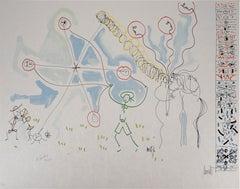 Jean COCTEAU and Raymond MORETTI : Happy Days - Original Hansigned Lithograph
