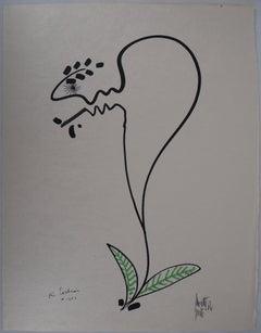 Jean COCTEAU and Raymond MORETTI - Original Hansigned Lithograph, 1973