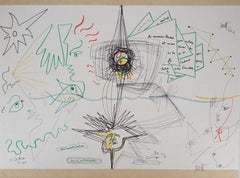 Jean COCTEAU and Raymond MORETTI: The symbiosis - Original Hansigned Lithograph