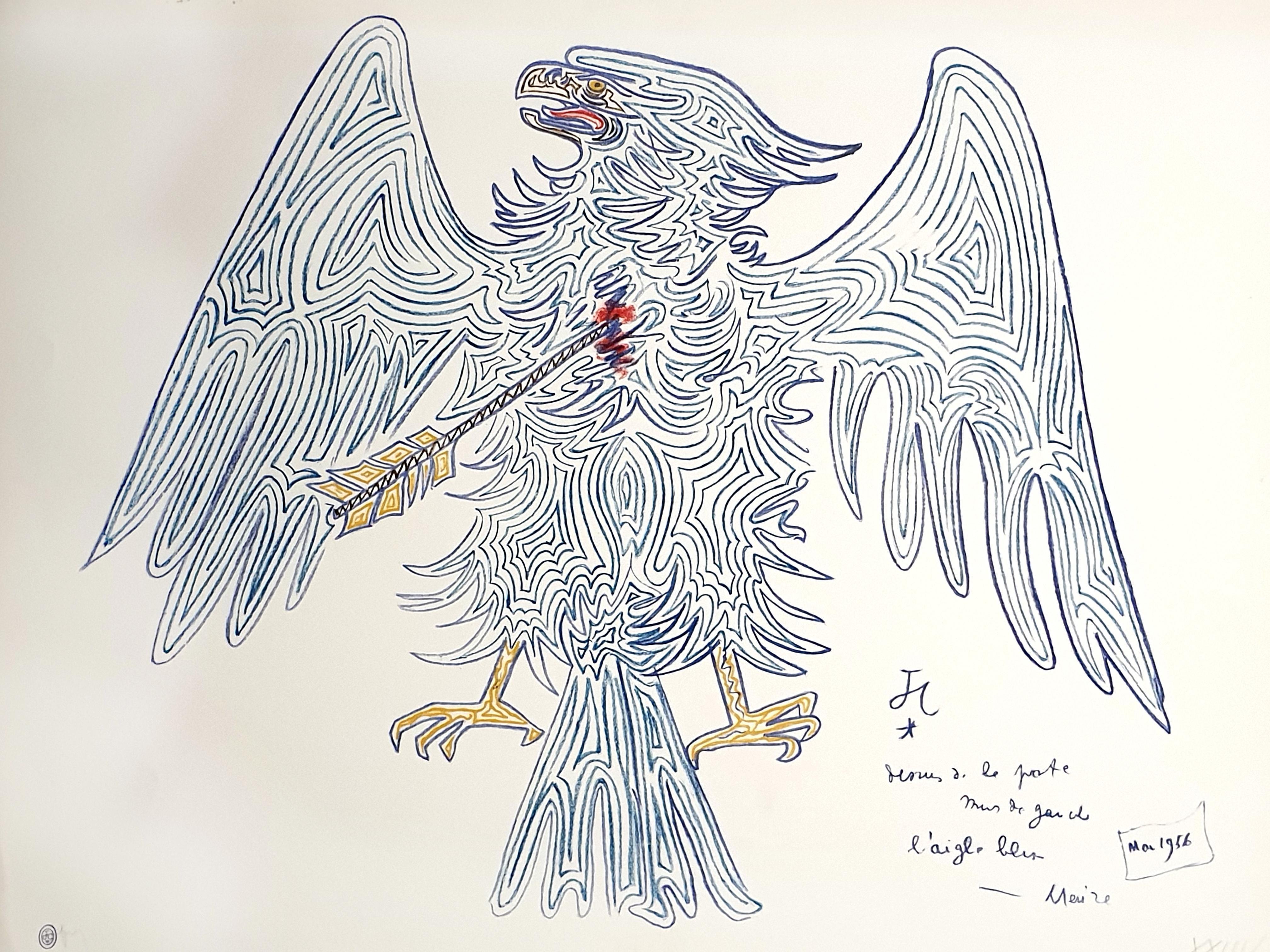 Jean Cocteau - Blue Eagle - Original Lithograph