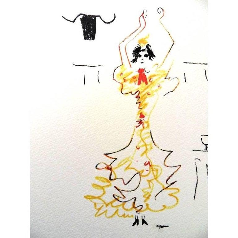Jean Cocteau -  Carmen - Original Lithograph For Sale 1