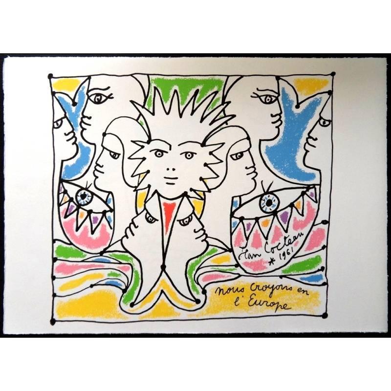 Jean Cocteau (after) - Europe's Colors - Lithograph