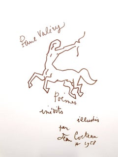 Jean Cocteau - For Paul Valery - Original Lithograph