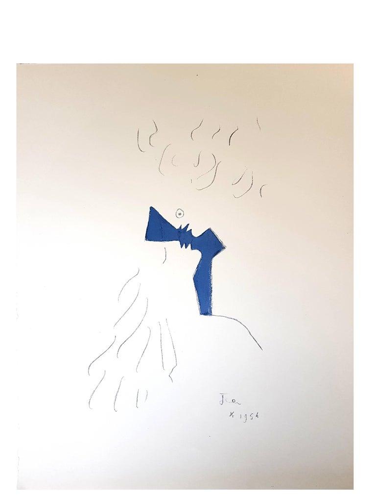 Jean Cocteau - Lovers - Original Lithograph For Sale 1