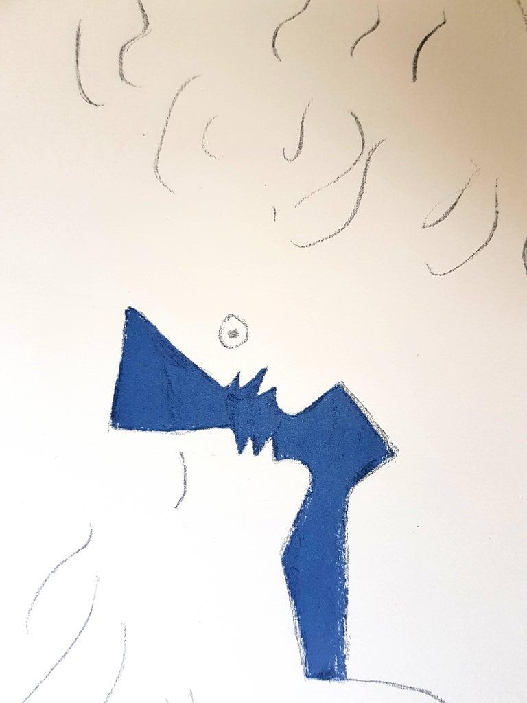 Jean Cocteau - Lovers - Original Lithograph For Sale 2