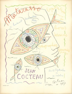 "Jean Cocteau-Matarasso-24.75"" x 19""-Lithograph-1957"