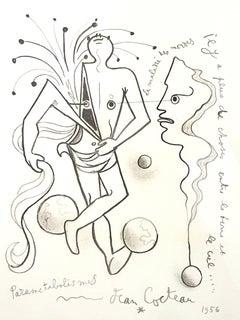 Jean Cocteau - Parametabolismes - Original Lithograph