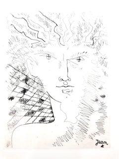 Jean Cocteau - Portrait - Original Etching