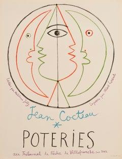 Jean Cocteau Poteries by Jean Cocteau, 1958 Original Lithographic Poster