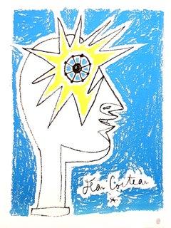 Jean Cocteau - Profil - Original Lithograph