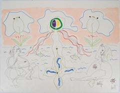Jean COCTEAU & Raymond MORETTI: Birth of Venus - Original Handsigned Lithograph