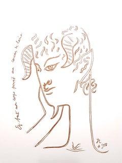 Jean Cocteau - Reflections - Original Lithograph