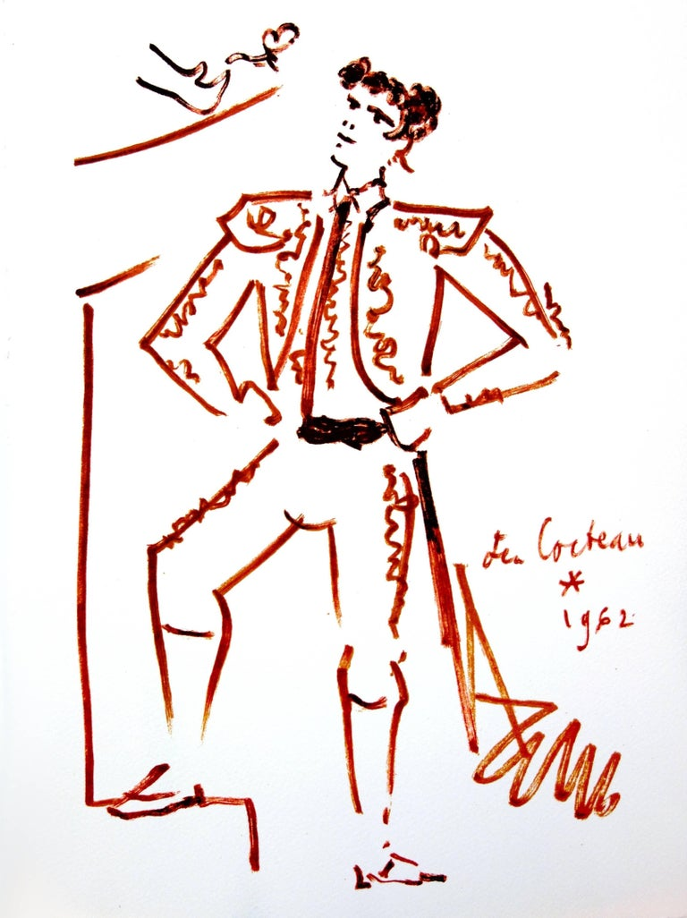 Jean Cocteau - Strength - Original Lithograph For Sale 3