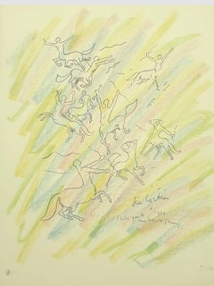 Jean Cocteau - Study for the Wall - Original Handsigned Lithograph