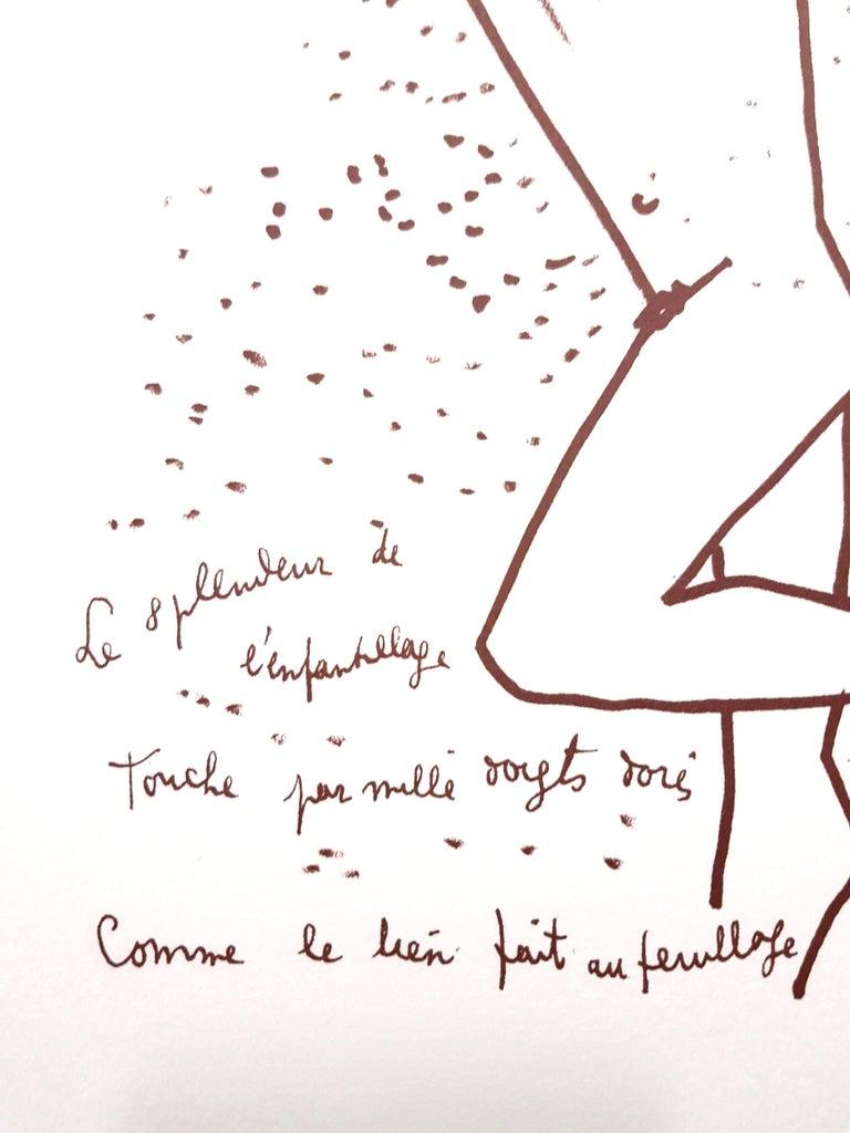 Jean Cocteau - The Boxer - Original Lithograph For Sale 2