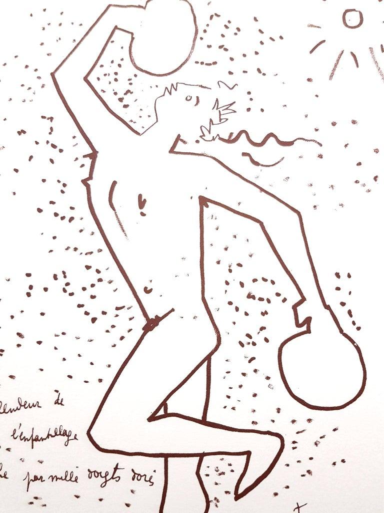 Jean Cocteau - The Boxer - Original Lithograph For Sale 5