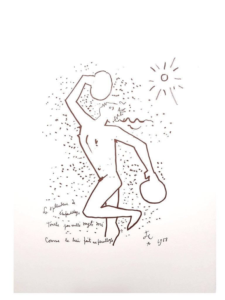 Jean Cocteau - The Boxer - Original Lithograph For Sale 6